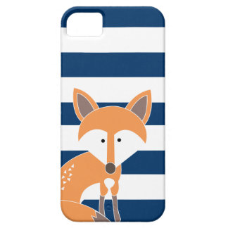 Fox and Navy Stripes Case For The iPhone 5