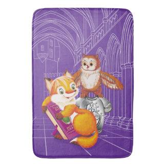 fox and owl bath mat