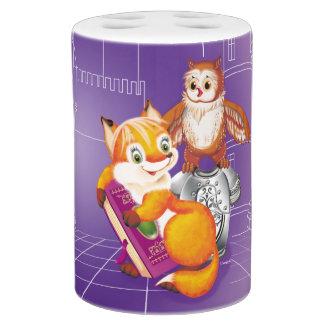 fox and owl bathroom set