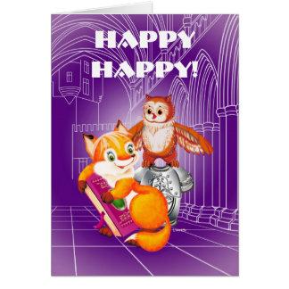 fox and owl card