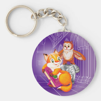 fox and owl key ring