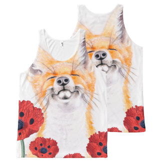 fox and poppies All-Over print singlet