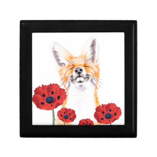 fox and poppies gift box