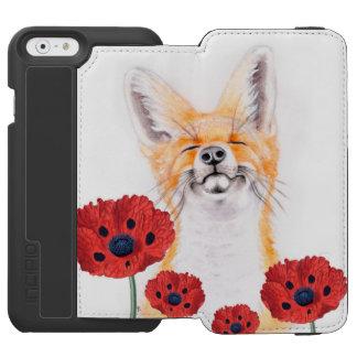 fox and poppies incipio watson™ iPhone 6 wallet case