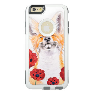 fox and poppies OtterBox iPhone 6/6s plus case