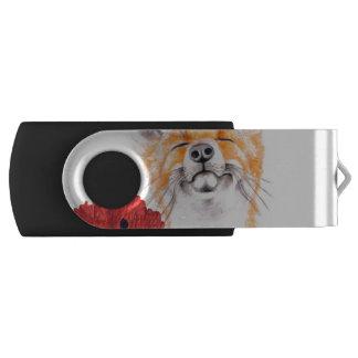 fox and poppies USB flash drive