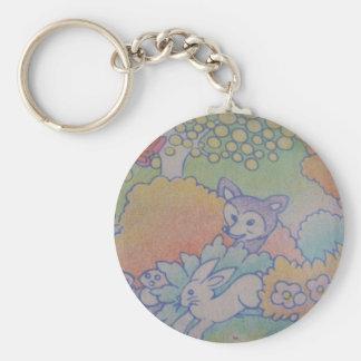 fox and rabbit key chains