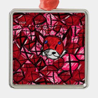 fox and ruby's Silver-Colored square decoration