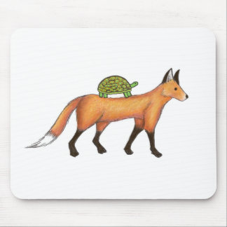 Fox and Turtle Mousepad