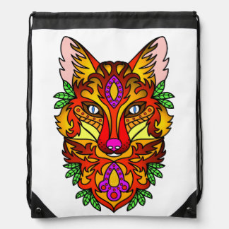 Fox Animal Drawstring Bag