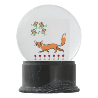 Fox ans Owls Snow Globe