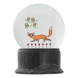 Fox ans Owls Snow Globes