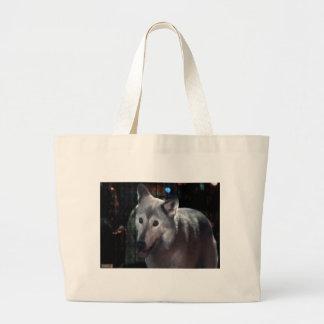 FOX at night dangerous animal cunning wild creatur Canvas Bag