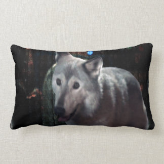 FOX at night dangerous animal cunning wild creatur Throw Pillows