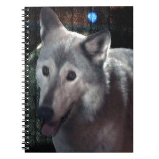 FOX at night dangerous animal cunning wild creatur Spiral Note Book