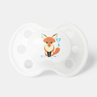 Fox Baby Painting Blue Heart With Tail Dummy