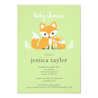 Fox Baby Shower Party Invitation