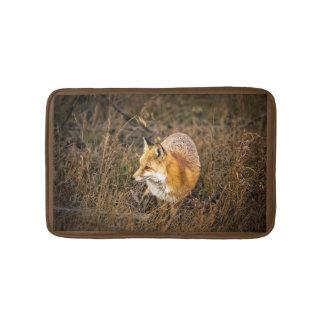 fox bath mat, fox bathroom accessories, fox gift bath mat