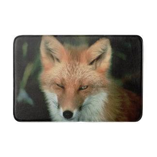 fox bath mat, foxy mat, fox home decor bath mat