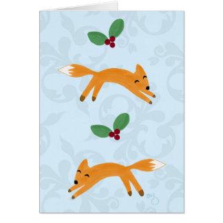Fox & Berries Greeting Card