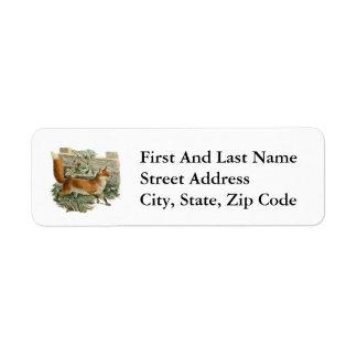Fox by a Fence Return Address Label