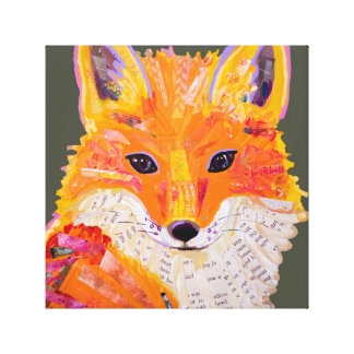 Fox Canvas Collage
