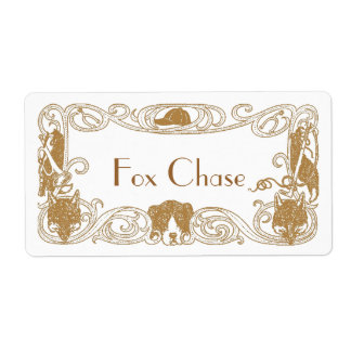 Fox Chase Hunt Homebrew Bottling Home Brew Labels