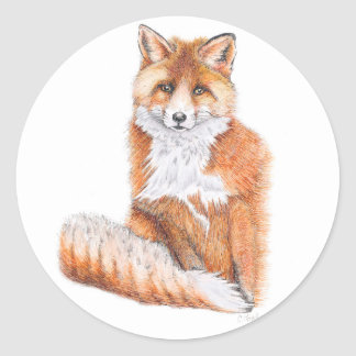 Fox Classic Round Sticker