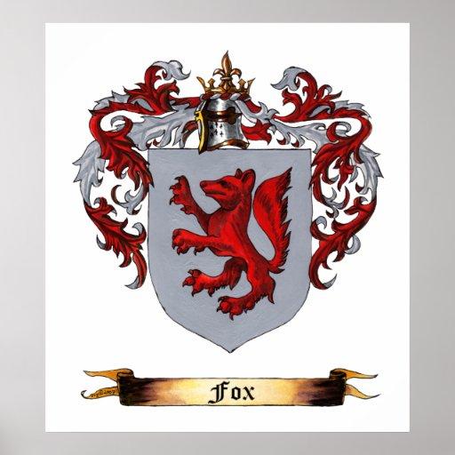 Fox Coat of Arms Print