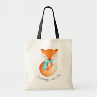 Fox cub in winter art library bag