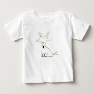 fox doodle black white gray simple kids drawing baby T-Shirt