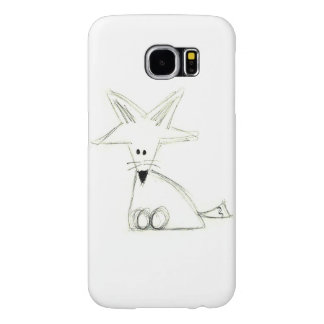 fox doodle black white gray simple kids drawing samsung galaxy s6 cases