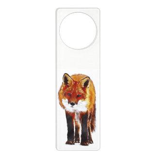 fox door hanger, fox door sign, custom door hanger
