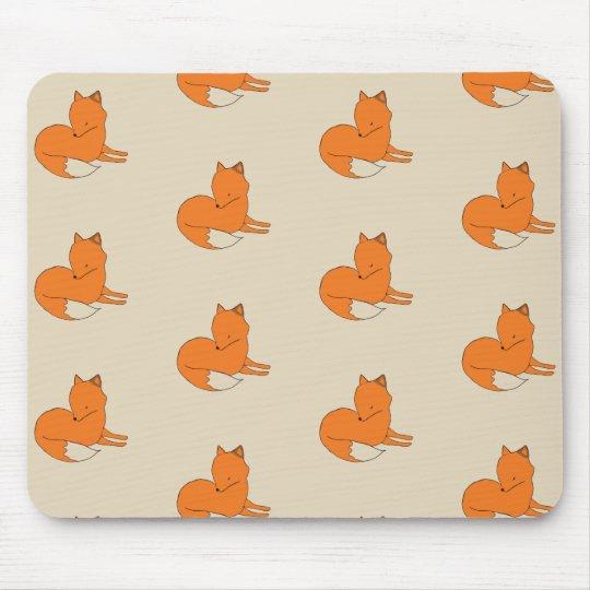 Fox Drawing Mousepad