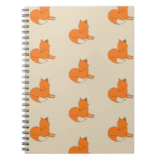 Fox Drawing Photo Notebook
