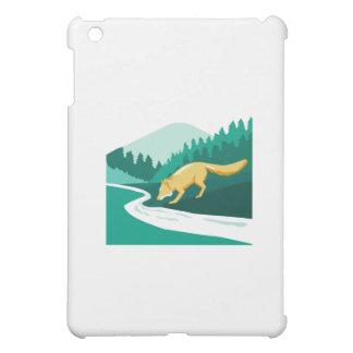 Fox Drinking River Creek Woods Square Retro iPad Mini Covers