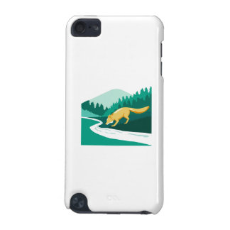 Fox Drinking River Creek Woods Square Retro iPod Touch 5G Cases