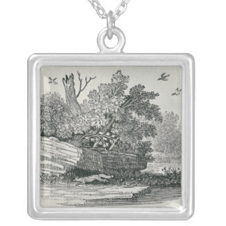 Fox escaping,'The General History of Silver Plated Necklace