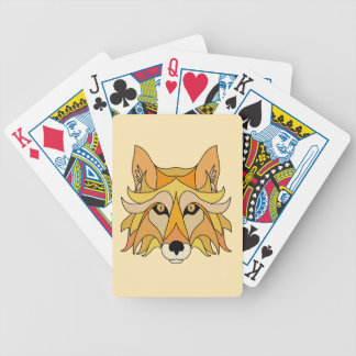 Fox Face Bicycle Playing Cards