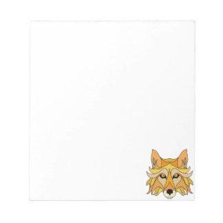 Fox Face Notepad