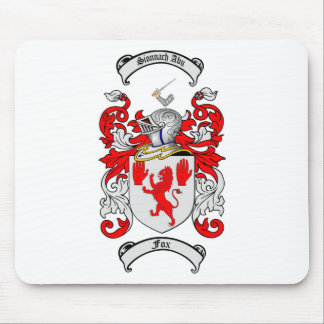 FOX FAMILY CREST -  FOX COAT OF ARMS MOUSE PAD