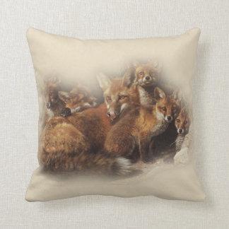Fox Family Cushion