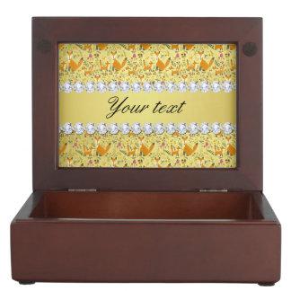 Fox Faux Gold Foil Bling Diamonds Memory Boxes
