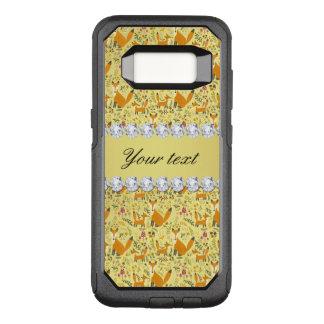 Fox Faux Gold Foil Bling Diamonds OtterBox Commuter Samsung Galaxy S8 Case