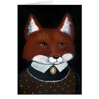 Fox female American Gothic spoof blank card