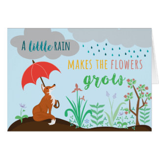 Fox & Flowers Greeting Card