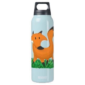Fox garden insulated water bottle