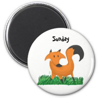 Fox garden magnet