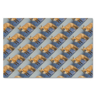 Fox gift wrapping, winter fox tissue paper