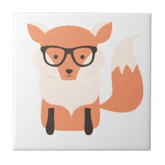 Fox Hipster Ceramic Tile